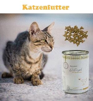 Dies ist ein Foto von Reico Katzenfutter und einer Katze