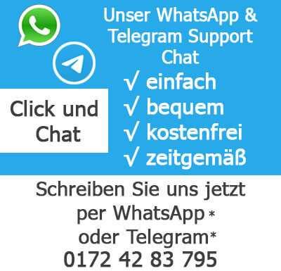 Dieses Bild zeigt den WhatsApp Service für Reico Hundefutter und Co.